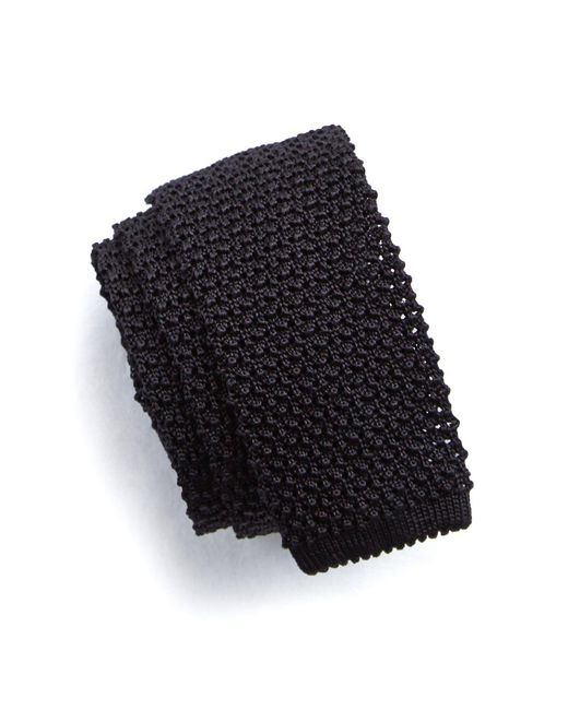 Todd Snyder | Classic Silk Knit Tie In Black for Men | Lyst