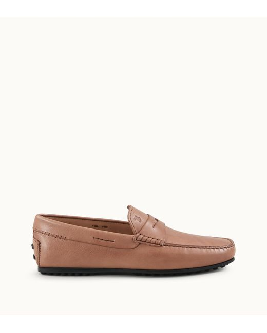 acf92a7877e Tod s - Brown City Gommino Loafers In Leather for Men - Lyst ...