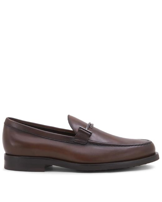 Men's XXM0R000640D9CS801 Brown Leather Loafers