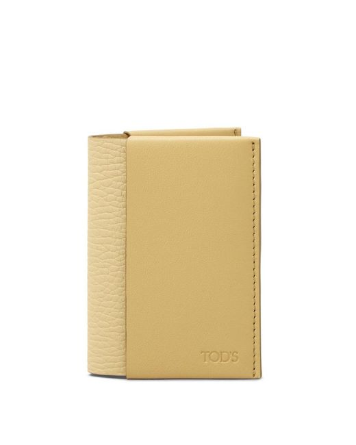 Tod's - Yellow Credit Card Holder In Leather - Lyst