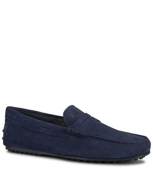 Tod's | Blue City Gommino Suede Loafers for Men | Lyst
