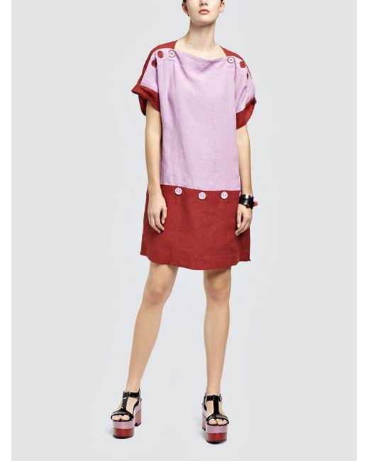 Tomas Maier - Multicolor Linen Dress - Lyst