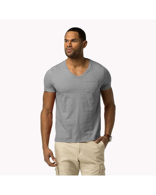 Tommy Hilfiger | Gray Bt Heather Jersey Crew Neck T-shirt for Men | Lyst