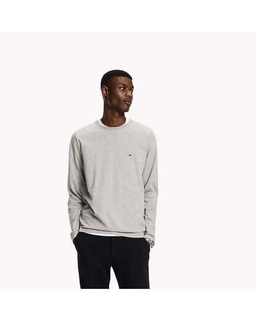 Tommy Hilfiger | Gray Long Sleeve Regular Fit Tee for Men | Lyst