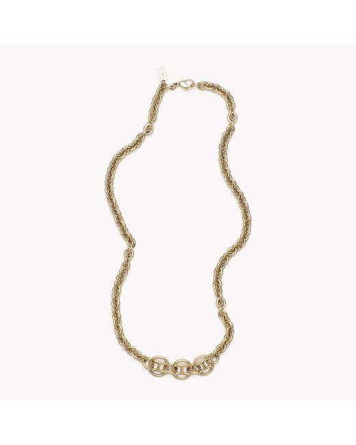 Tommy Hilfiger   Metallic Signature Necklace   Lyst