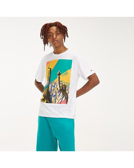 5397fc5b125643 Tommy Hilfiger - White New York Photo Print T-shirt for Men - Lyst ...