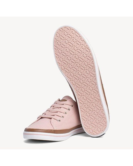 1dfc7c4300129 ... Tommy Hilfiger - Pink Iconic Pure Cotton Trainers - Lyst ...