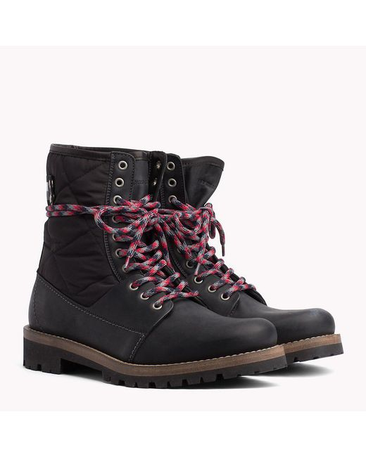 787d8ed811335 Tommy Hilfiger Material Mix Winter Boots in Black for Men - Save 30 ...