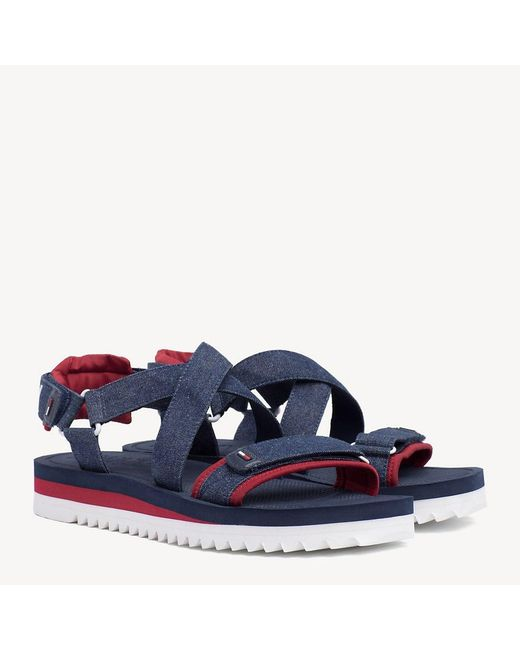 350aa25a9 Tommy Hilfiger - Blue Tommy Jeans Multi-strap Sandals for Men - Lyst ...