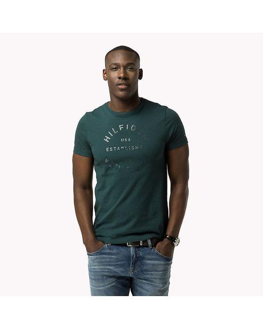 Tommy Hilfiger | Green Regular Fit T-shirt for Men | Lyst