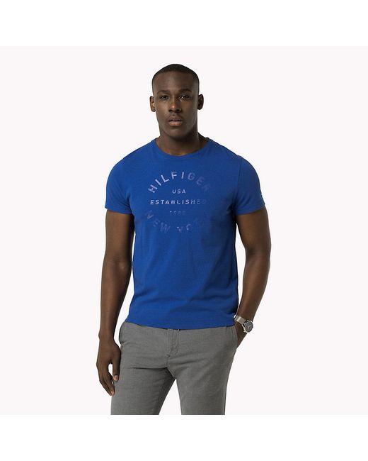 Tommy Hilfiger | Blue Regular Fit T-shirt for Men | Lyst