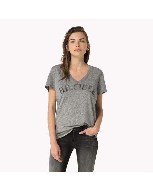 Tommy Hilfiger | Gray Hilfiger T-shirt | Lyst