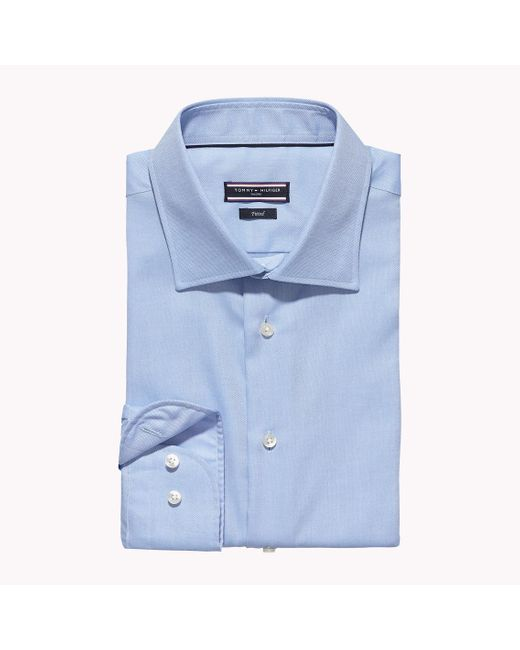 Tommy Hilfiger   Blue Johnny Fitted Shirt for Men   Lyst