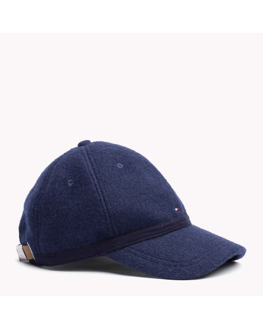 Tommy Hilfiger | Blue Wool Blend Cap for Men | Lyst