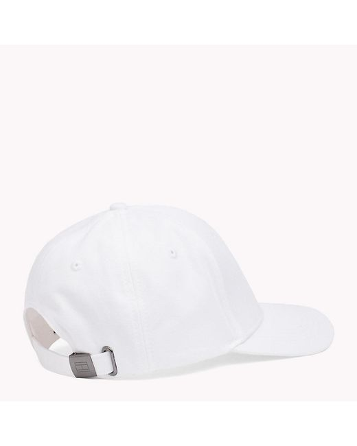 cf923465 ... Tommy Hilfiger - White Flag Front Baseball Cap for Men - Lyst