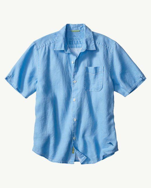 Tommy Bahama - Blue Sea Glass Breezer Linen Camp Shirt for Men - Lyst