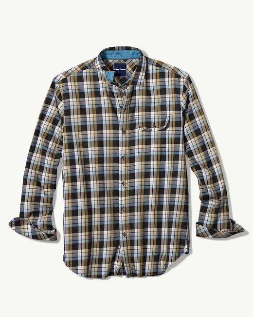 Tommy Bahama | Black Big & Tall Cabrillo Plaid Shirt for Men | Lyst