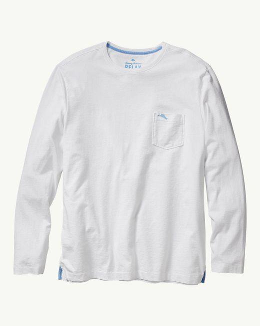 Tommy Bahama White 'bali Skyline' Long Sleeve Pima Cotton T-shirt for men