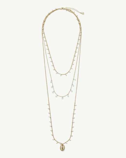 Tommy Bahama - Metallic Golden Triple Chain Necklace - Lyst