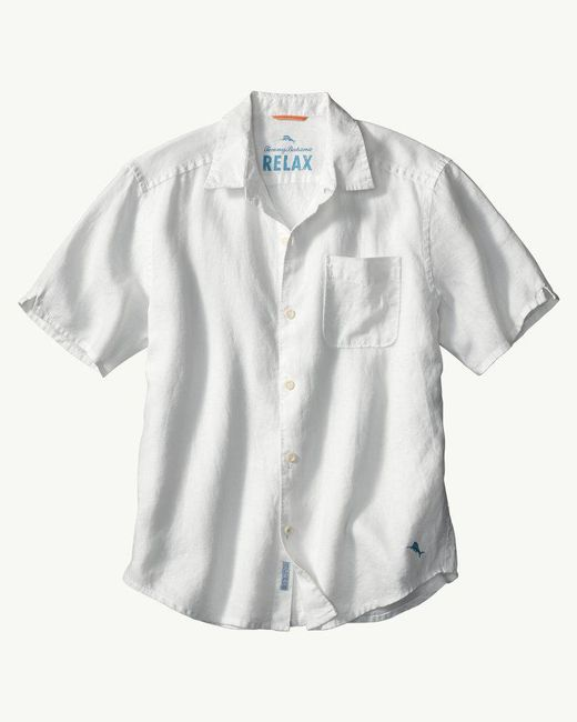 Tommy Bahama - White Big & Tall Sea Glass Breezer Linen Camp Shirt for Men - Lyst