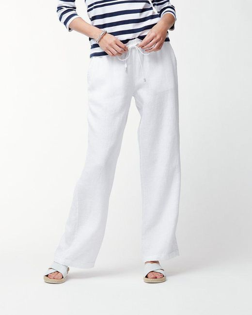 Tommy Bahama - White Two Palms Linen Easy Pants - Lyst