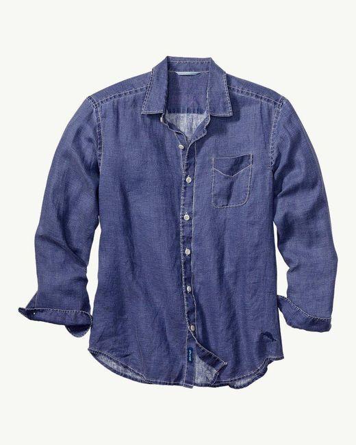 Tommy Bahama - Blue Sea Glass Breezer Linen Shirt for Men - Lyst