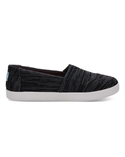 TOMS | Black Multi Women's Avalon Slip Ons | Lyst