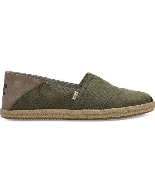 1bff0ca690638 TOMS Green Canvas Convertible Men's Espadrilles in Green for Men - Lyst