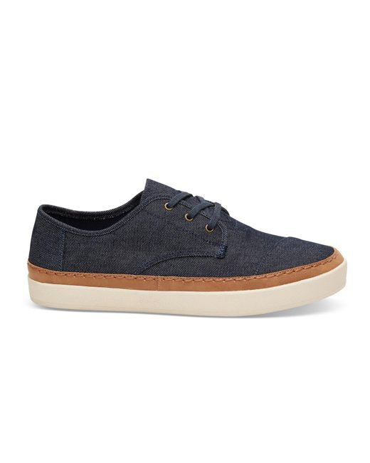TOMS | Blue Navy Denim Men's Paseo Sneakers for Men | Lyst