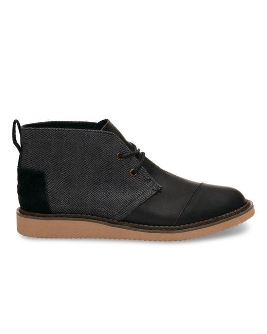 TOMS | Black Herringbone/leather Men's Mateo Chukka Boots for Men | Lyst