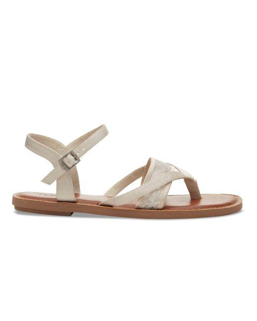 TOMS | White Ivory Lace Grosgrain Women's Lexie Sandals | Lyst
