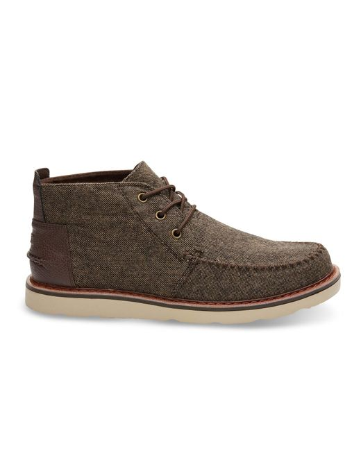 TOMS | Chocolate Brown Brushed Wool Men's Chukka Boots for Men | Lyst