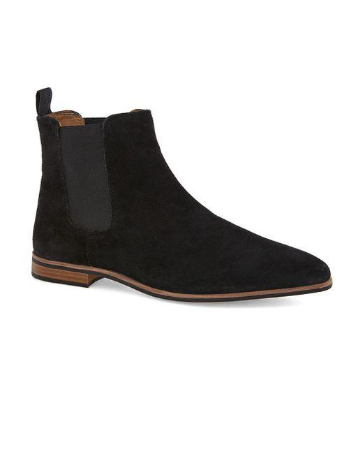 Topman - Black Suede Chelsea Boot for Men - Lyst