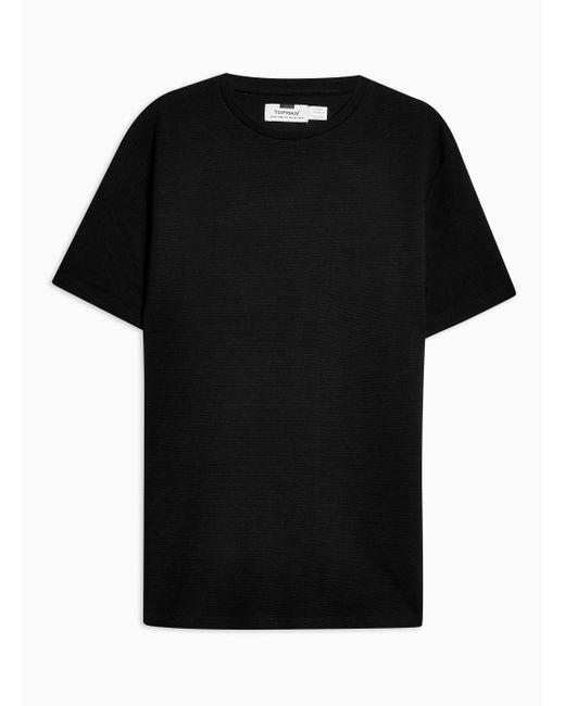 Topman - Black Ottoman T-shirt for Men - Lyst