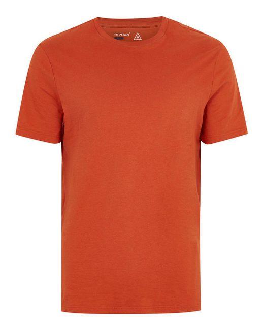 Topman Burnt Orange T-shirt In Orange For Men