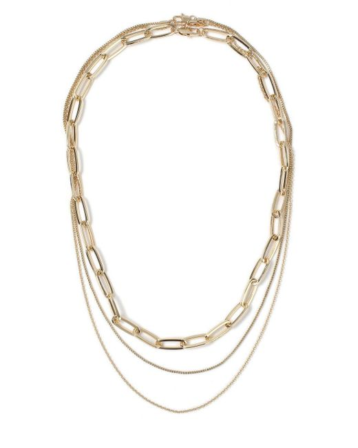 Topman - Metallic Gold Multi Row Necklace for Men - Lyst