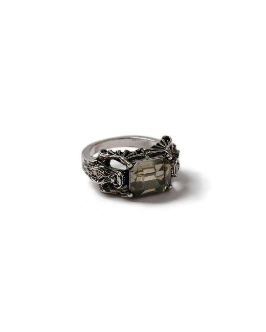 Topman - Black Ilver Stone Ring for Men - Lyst