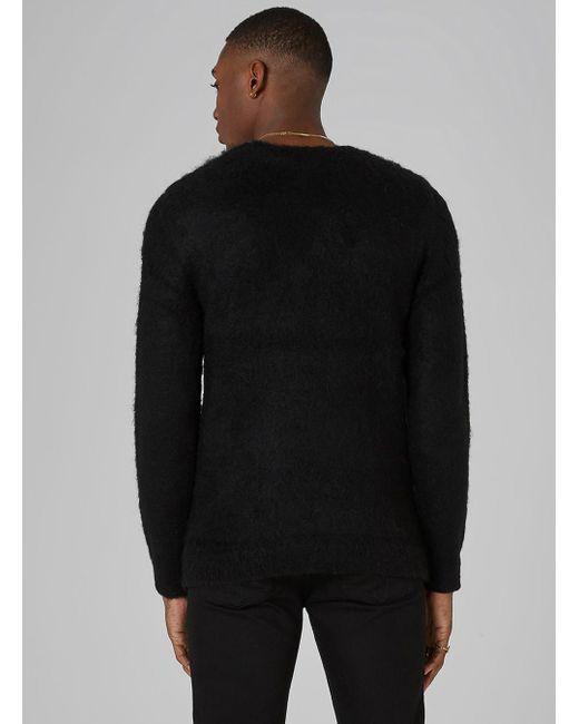 Topman Black Mohair Snowflake Jumper in Black for Men   Lyst