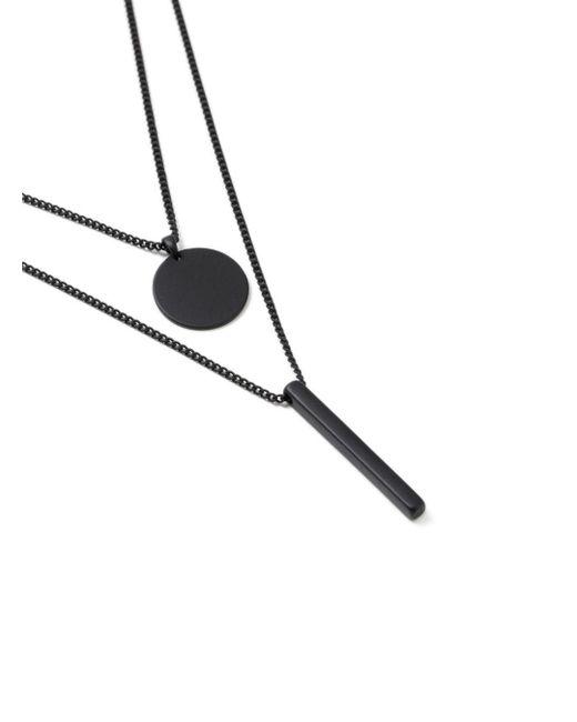 Topman - Black Geo Necklace for Men - Lyst