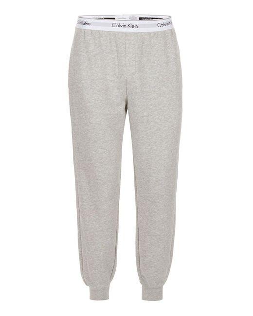 Calvin Klein | Gray Grey Marl Joggers for Men | Lyst