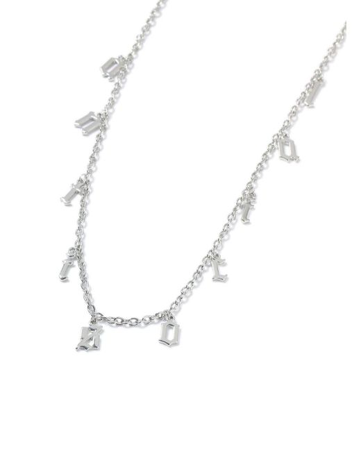 Topman - Metallic Ilver Antisocial Necklace for Men - Lyst