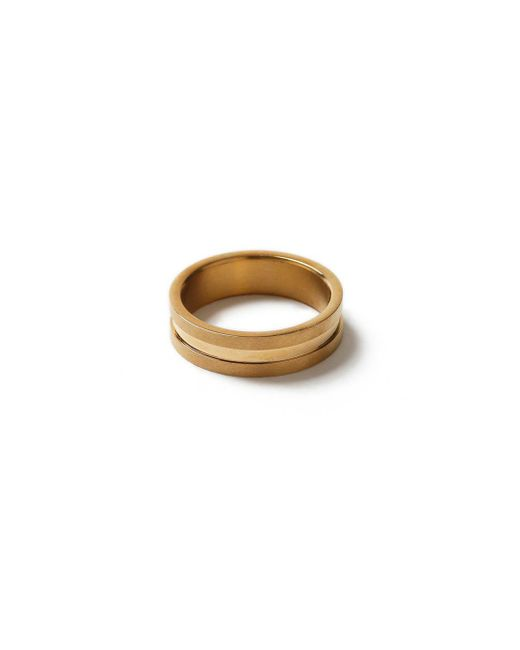 Topman - Metallic Gold Ridged Ring* for Men - Lyst