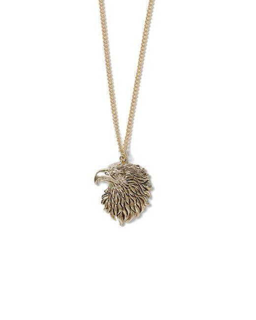 Topman | Metallic Gold Look Eagle Necklace* for Men | Lyst