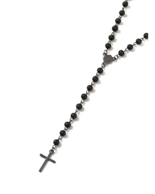 Topman | Black Bead Rosary Necklace* for Men | Lyst