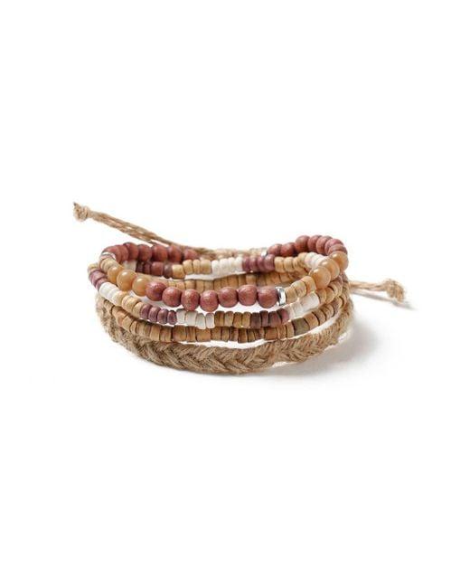Topman - Brown Beaded Bracelet Pack for Men - Lyst