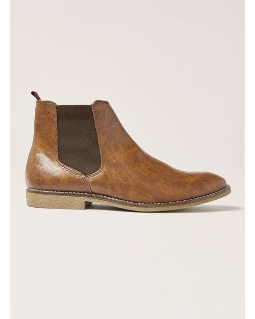 Topman - Brown Tan Pu Chelsea Boot for Men - Lyst
