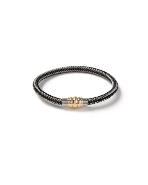 Topman - Gray Zip Cord Bracelet for Men - Lyst