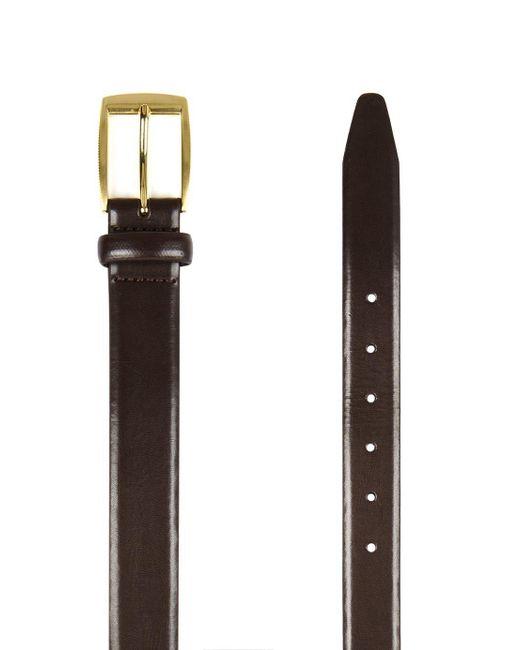 Topman - Brown Leather Smart Belt for Men - Lyst