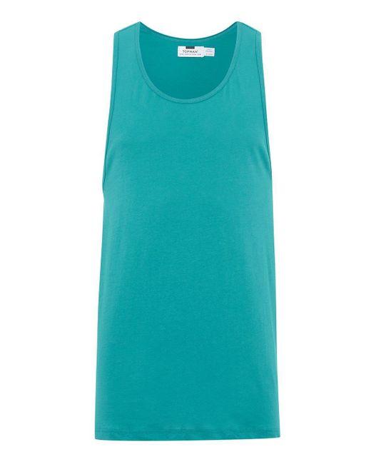 Topman - Blue Turquoise Slim Vest for Men - Lyst