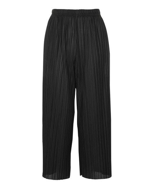 TOPSHOP | Black Matte Plisse Awkward Trousers | Lyst